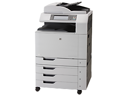 На фото МФУ HP Color LaserJet CM6040